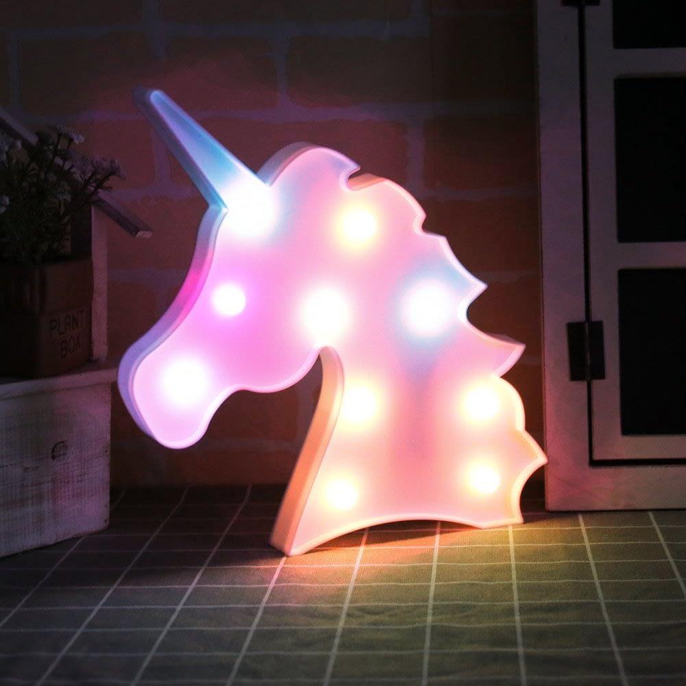 unicorn shape marquee light