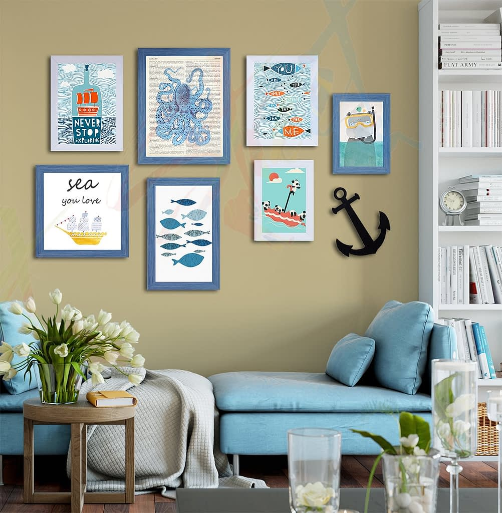 gallery wall frames to enhance decor of kids' room
