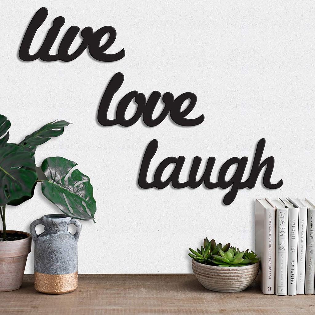 """live laugh love"" wall plaque"