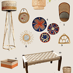 Moodboard | Tropical Living With Rattan & Cane