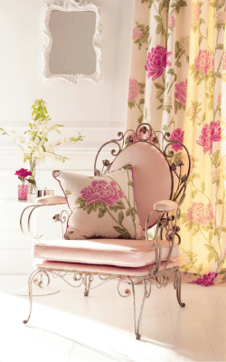 vintage floral upholstery