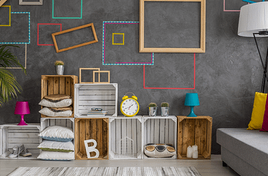 kids room Wall decoration with washi tape