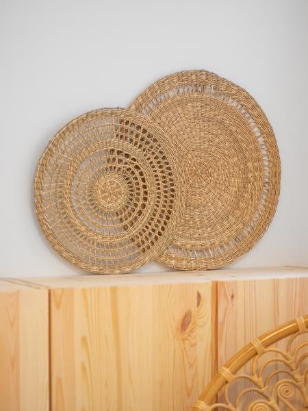 wicker wall plates