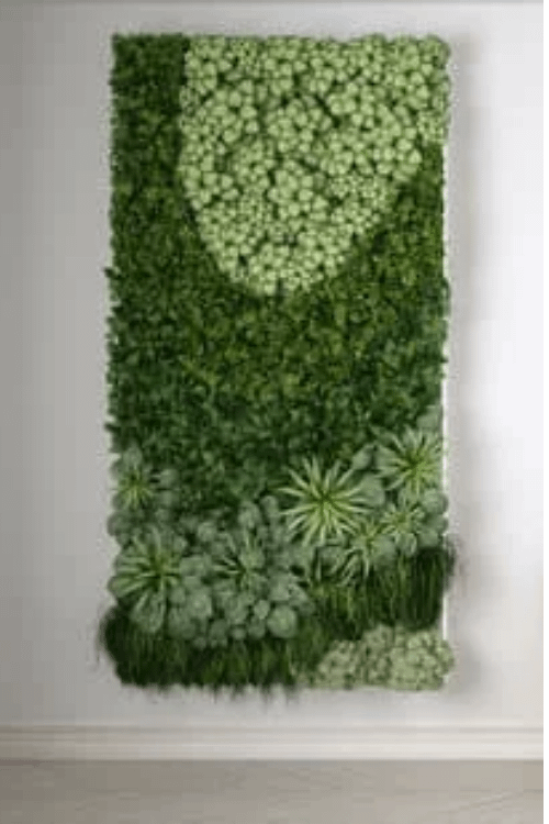an example of framed green wall on an indoor wall