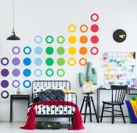 wall stencilling pattern circles